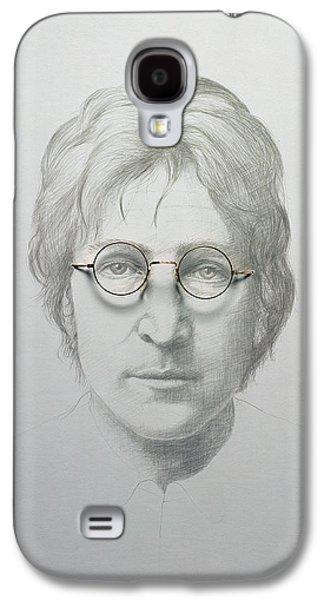 John Lennon Paintings Galaxy S4 Cases - Lennon  Galaxy S4 Case by Trevor Neal