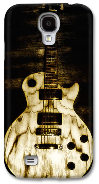 Blonde Galaxy S4 Cases - Les Paul Guitar Galaxy S4 Case by Bill Cannon