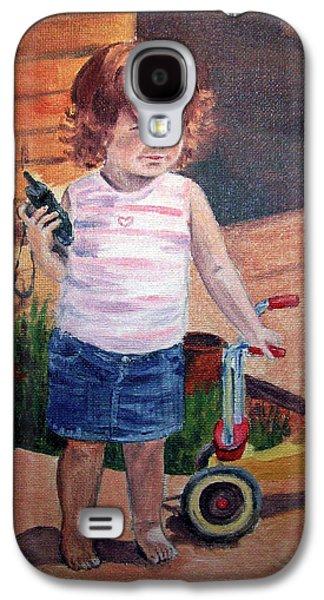 Girl Galaxy S4 Cases - Let Me Call Papa Galaxy S4 Case by Irina Sztukowski