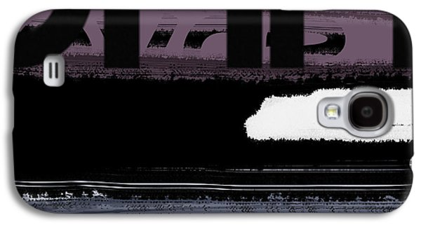 Modern Abstract Galaxy S4 Cases - Letter Purple Galaxy S4 Case by Naxart Studio