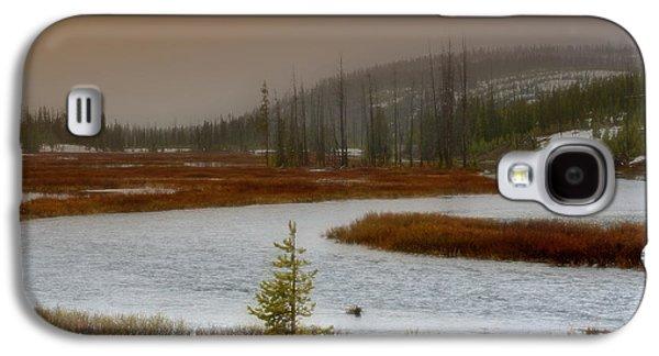 Yellowstone Digital Galaxy S4 Cases - Lewis River - Yellowstone National Park Galaxy S4 Case by Ellen Heaverlo