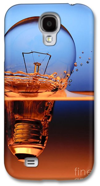 Bulb Galaxy S4 Cases - Light Bulb And Splash Water Galaxy S4 Case by Setsiri Silapasuwanchai