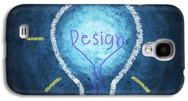 Thinking Galaxy S4 Cases - Light Bulb Design Galaxy S4 Case by Setsiri Silapasuwanchai