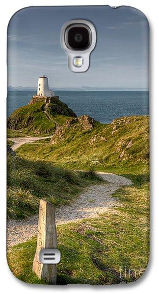North Wales Digital Art Galaxy S4 Cases - Lighthouse Twr Mawr Galaxy S4 Case by Adrian Evans