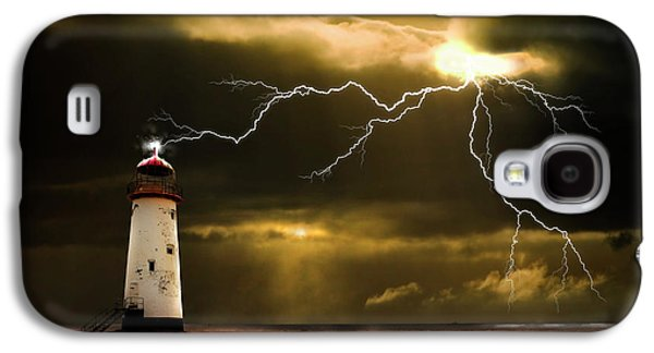 Electrical Galaxy S4 Cases - Lightning Storm Galaxy S4 Case by Meirion Matthias