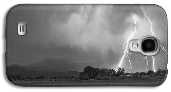 Landscape Acrylic Prints Galaxy S4 Cases - Lightning Striking Longs Peak Foothills 8CBW Galaxy S4 Case by James BO  Insogna