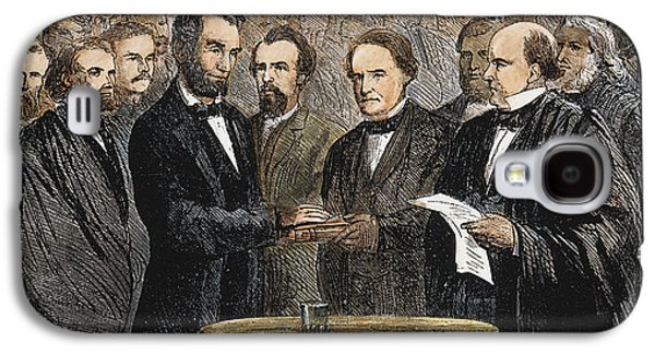 Inauguration Galaxy S4 Cases - Lincoln Inauguration, 1865 Galaxy S4 Case by Granger