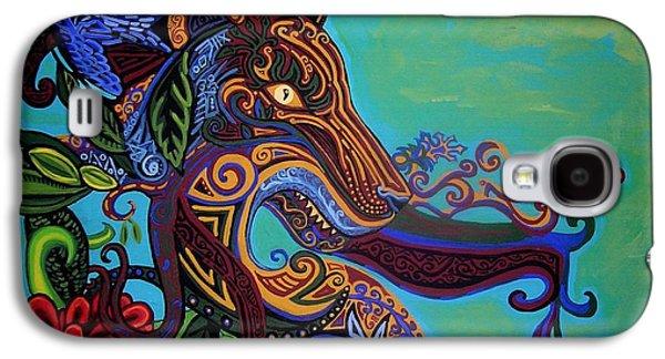 Zodiac Paintings Galaxy S4 Cases - Lion Gargoyle Galaxy S4 Case by Genevieve Esson