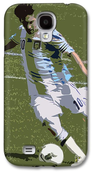 Clash Of Worlds Galaxy S4 Cases - Lionel Messi Kicking II Galaxy S4 Case by Lee Dos Santos