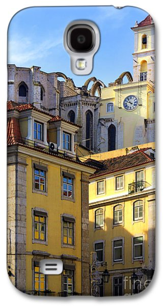 Ancient Galaxy S4 Cases - Lisbon Buildings Galaxy S4 Case by Carlos Caetano