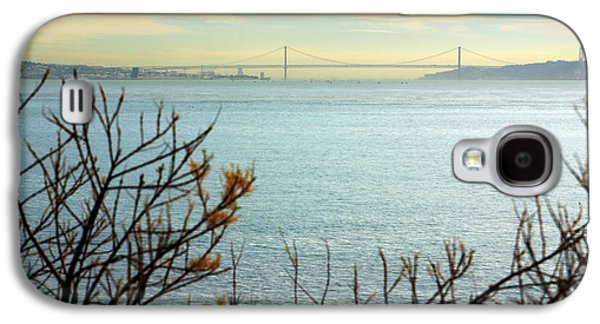 River Scenes Photographs Galaxy S4 Cases - Lisbon on the horizon Galaxy S4 Case by Carlos Caetano