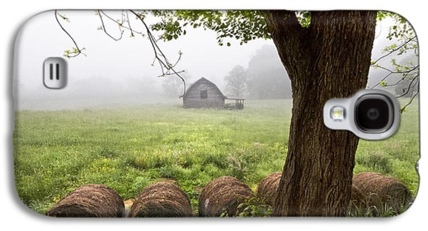 Tennessee Hay Bales Galaxy S4 Cases - Little Barn Galaxy S4 Case by Debra and Dave Vanderlaan