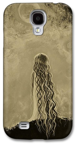 Best Sellers -  - Constellations Paintings Galaxy S4 Cases - Little Galaxie Too Galaxy S4 Case by Leslie Allen