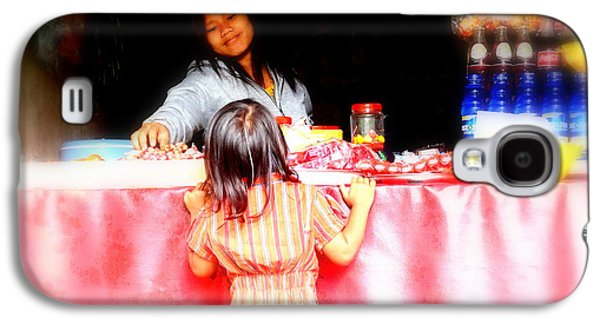 Little Girl Candy Shopping In Ubud  Galaxy S4 Case by Funkpix Photo Hunter