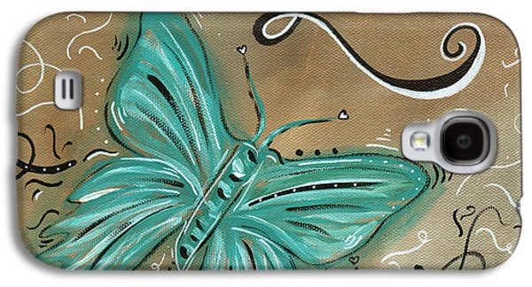 Abstract Landscape Galaxy S4 Cases - Live and Love Butterfly by MADART Galaxy S4 Case by Megan Duncanson