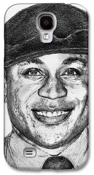 Hop Drawings Galaxy S4 Cases - LL Cool J in 2010 Galaxy S4 Case by J McCombie