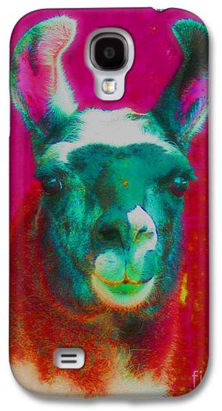 Llama Digital Galaxy S4 Cases - Llama Of A Different Color Galaxy S4 Case by Smilin Eyes  Treasures