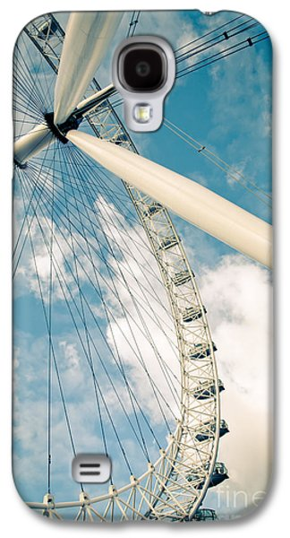 Landmark Galaxy S4 Cases - London Eye Ferris Wheel Galaxy S4 Case by Andy Smy