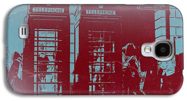 Fleeting Galaxy S4 Cases - London Telephone Booth Galaxy S4 Case by Naxart Studio