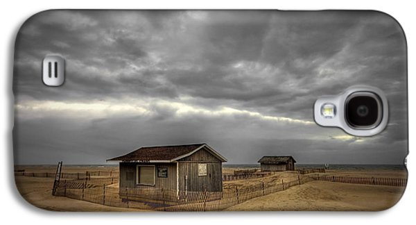 Beach Landscape Galaxy S4 Cases - Lonely Beach Shacks Galaxy S4 Case by Evelina Kremsdorf
