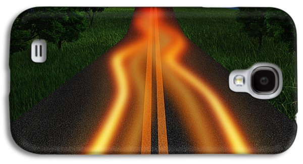 Nature Abstracts Galaxy S4 Cases - Long Road In Twilight Galaxy S4 Case by Setsiri Silapasuwanchai