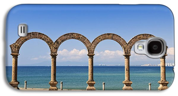 Stone Buildings Galaxy S4 Cases - Los Arcos Amphitheater in Puerto Vallarta Galaxy S4 Case by Elena Elisseeva