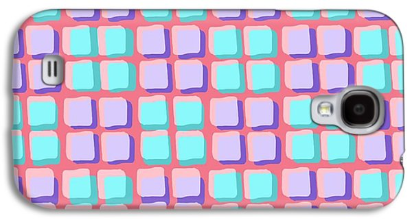 Louisa Galaxy S4 Cases - Lots of Squares Galaxy S4 Case by Louisa Knight