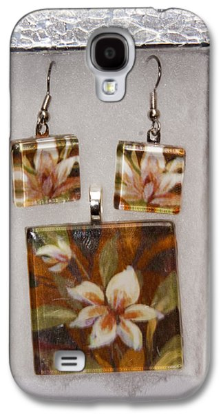 Flower Jewelry Galaxy S4 Cases - Lotus flower pendant and earring set Galaxy S4 Case by Darleen Stry