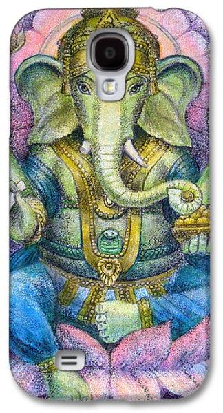 Lords Galaxy S4 Cases - Lotus Ganesha Galaxy S4 Case by Sue Halstenberg