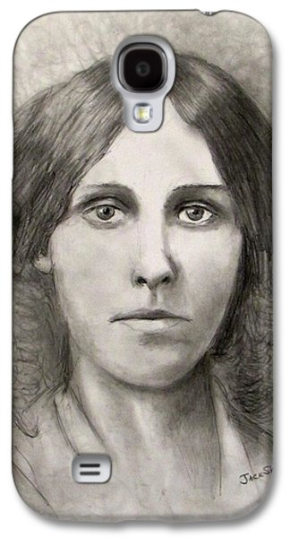 Jack Skinner Drawings Galaxy S4 Cases - Louisa May Alcott Galaxy S4 Case by Jack Skinner