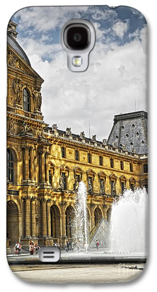 Visitor Galaxy S4 Cases - Louvre Galaxy S4 Case by Elena Elisseeva