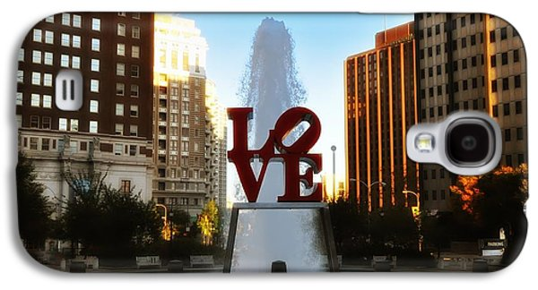 Phillies Galaxy S4 Cases - Love Park - Love Conquers All Galaxy S4 Case by Bill Cannon