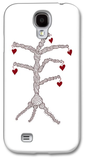 Faith Drawings Galaxy S4 Cases - Love tree Galaxy S4 Case by Frank Tschakert