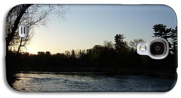 Waterscape Pyrography Galaxy S4 Cases - Lovely light on Mississippi river Galaxy S4 Case by Kent Lorentzen