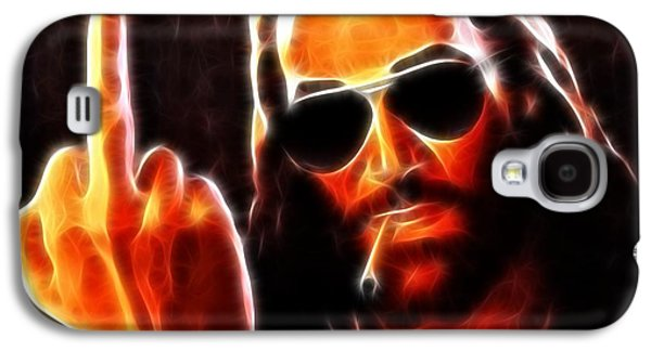 The Church Mixed Media Galaxy S4 Cases - Lucifer This is For You No2 Galaxy S4 Case by Pamela Johnson