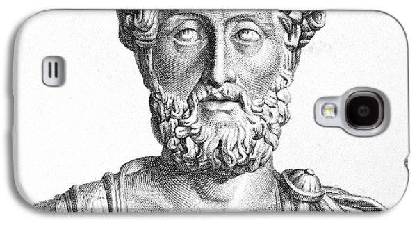 Statue Portrait Galaxy S4 Cases - Lucius Commodus (161-192 A.d.) Galaxy S4 Case by Granger