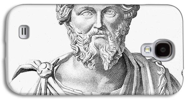 Statue Portrait Galaxy S4 Cases - Lucius Septimius Severus Galaxy S4 Case by Granger