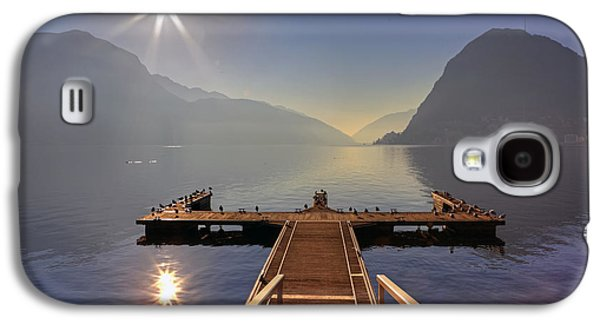 Docked Boat Galaxy S4 Cases - Lugano Galaxy S4 Case by Joana Kruse