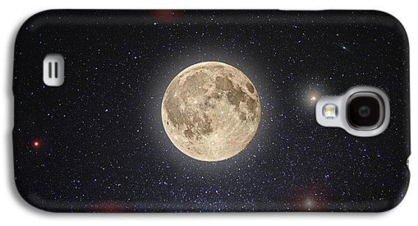 Moon Galaxy S4 Cases - Luna Lux Galaxy S4 Case by Steve Gadomski