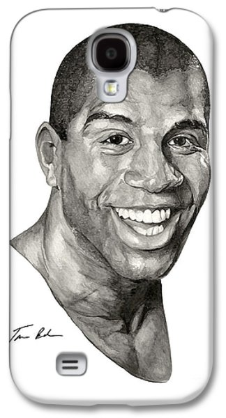 Nba Paintings Galaxy S4 Cases - Magic Galaxy S4 Case by Tamir Barkan