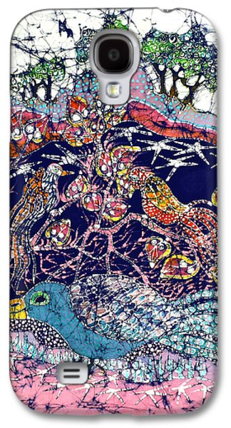 Mystical Tapestries - Textiles Galaxy S4 Cases - Magical Birds Galaxy S4 Case by Carol  Law Conklin
