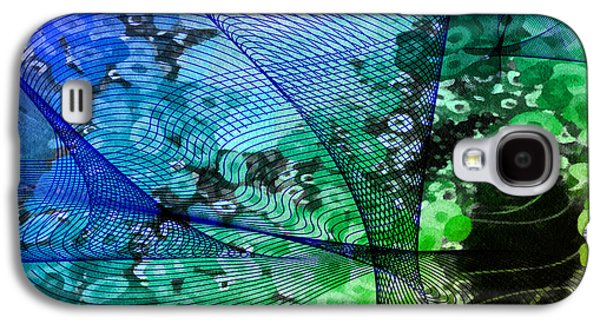 Abstract Digital Mixed Media Galaxy S4 Cases - Magnification 2 Galaxy S4 Case by Angelina Vick