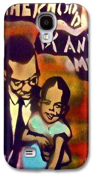 First Amendment Paintings Galaxy S4 Cases - Malcolm X Fatherhood 2 Galaxy S4 Case by Tony B Conscious