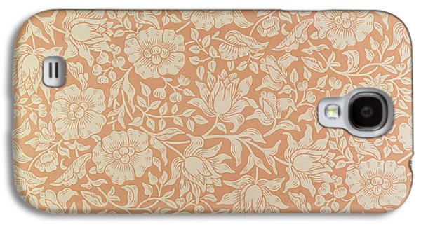 Flowers Tapestries - Textiles Galaxy S4 Cases - Mallow wallpaper design Galaxy S4 Case by William Morris