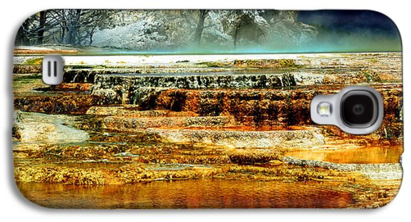 Yellowstone Digital Galaxy S4 Cases - Mammoth Terrace - Yellowstone Galaxy S4 Case by Ellen Heaverlo