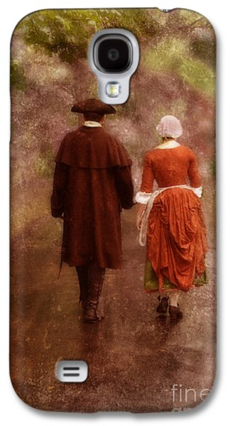 Colonial Man Photographs Galaxy S4 Cases - Man and Woman in 18th Century Clothing Walking Galaxy S4 Case by Jill Battaglia