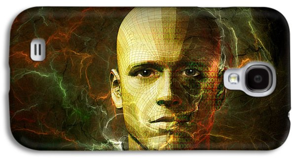 Cyberspace Galaxy S4 Cases - Man born of technology Galaxy S4 Case by Carol and Mike Werner
