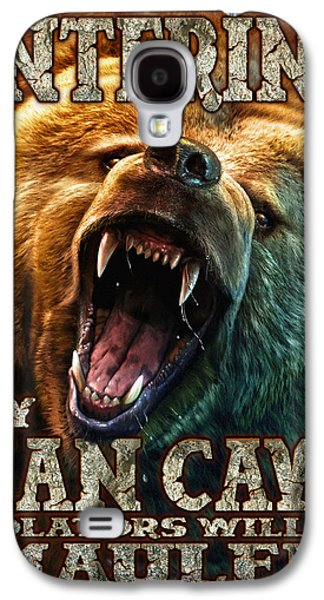 Growling Galaxy S4 Cases - Man Cave Galaxy S4 Case by JQ Licensing