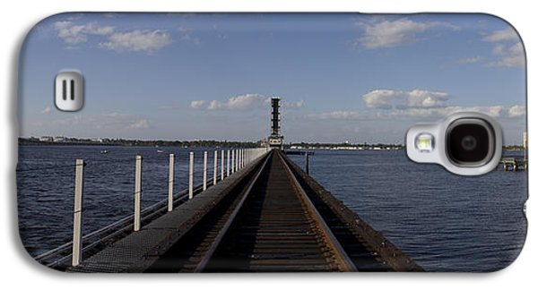 Buildin Galaxy S4 Cases - Manatee River Rail Galaxy S4 Case by Nicholas Evans