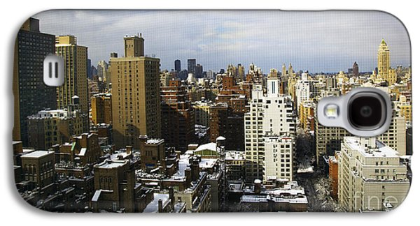 Snowy Day Galaxy S4 Cases - Manhattan View on a Winter Day Galaxy S4 Case by Madeline Ellis